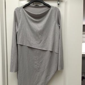 Zara Asymmetrical hem grey Tunic
